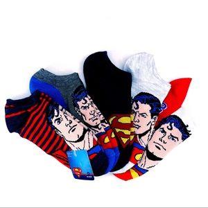 🆕 DC Comics Superman Womens Ankle Socks Red Blue
